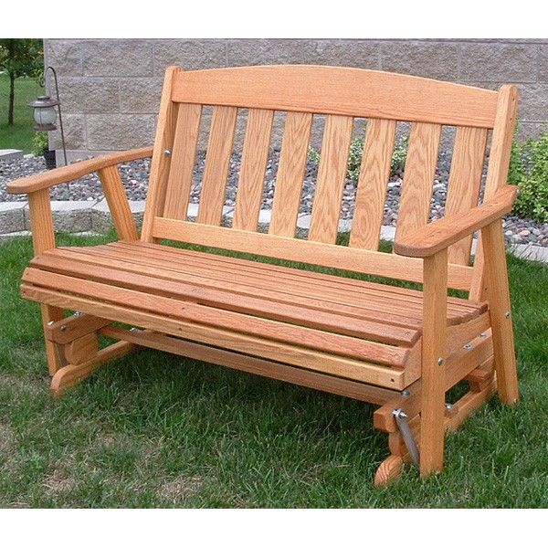 Superior Amish Outdoor Furniture Mission Solid Front Porch Swing Glider