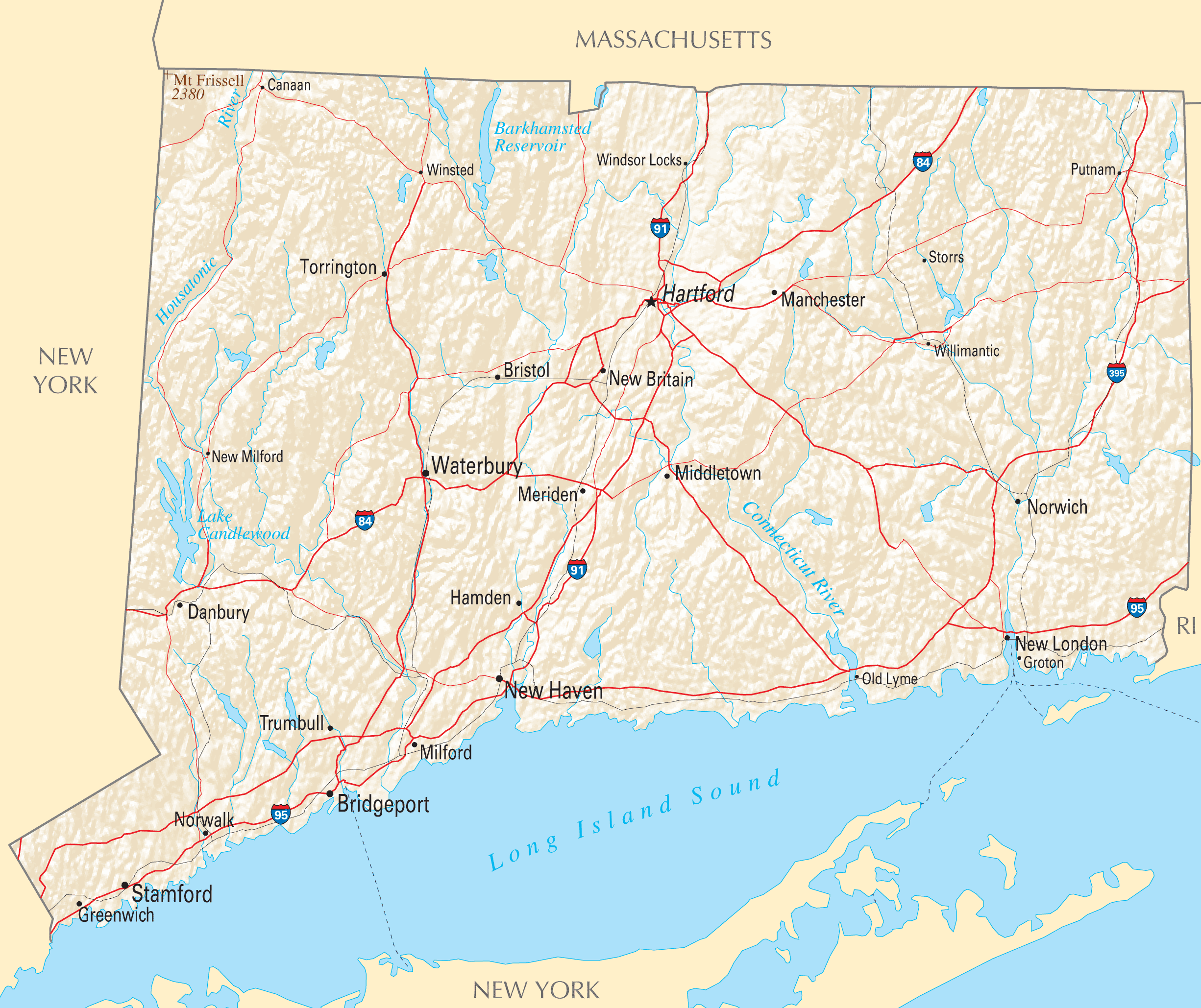 Connecticut Reference Map HussyAGoGo Ideas Pinterest Maps - Us states map ct