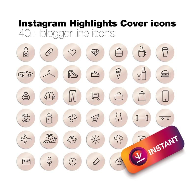 40 instagram story highlight icons instagram story