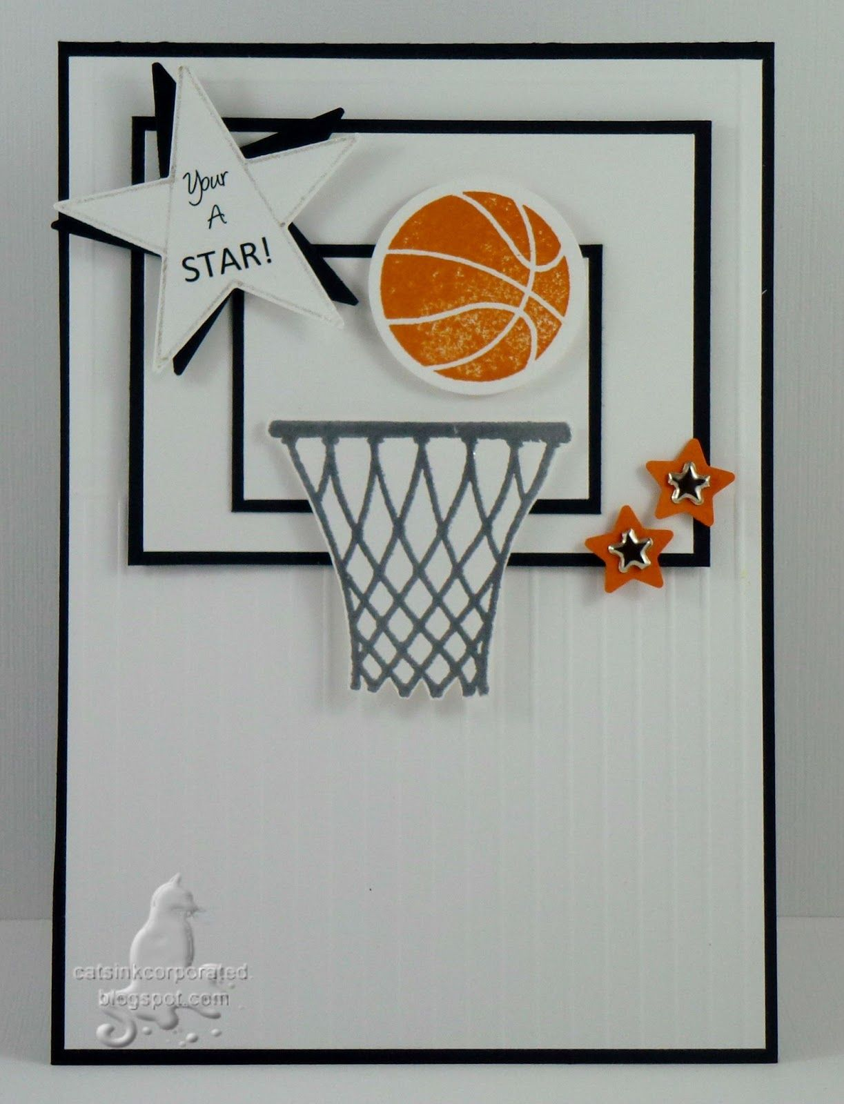 Открытка баскетбол своими руками