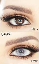 gröna linser för bruna ögon