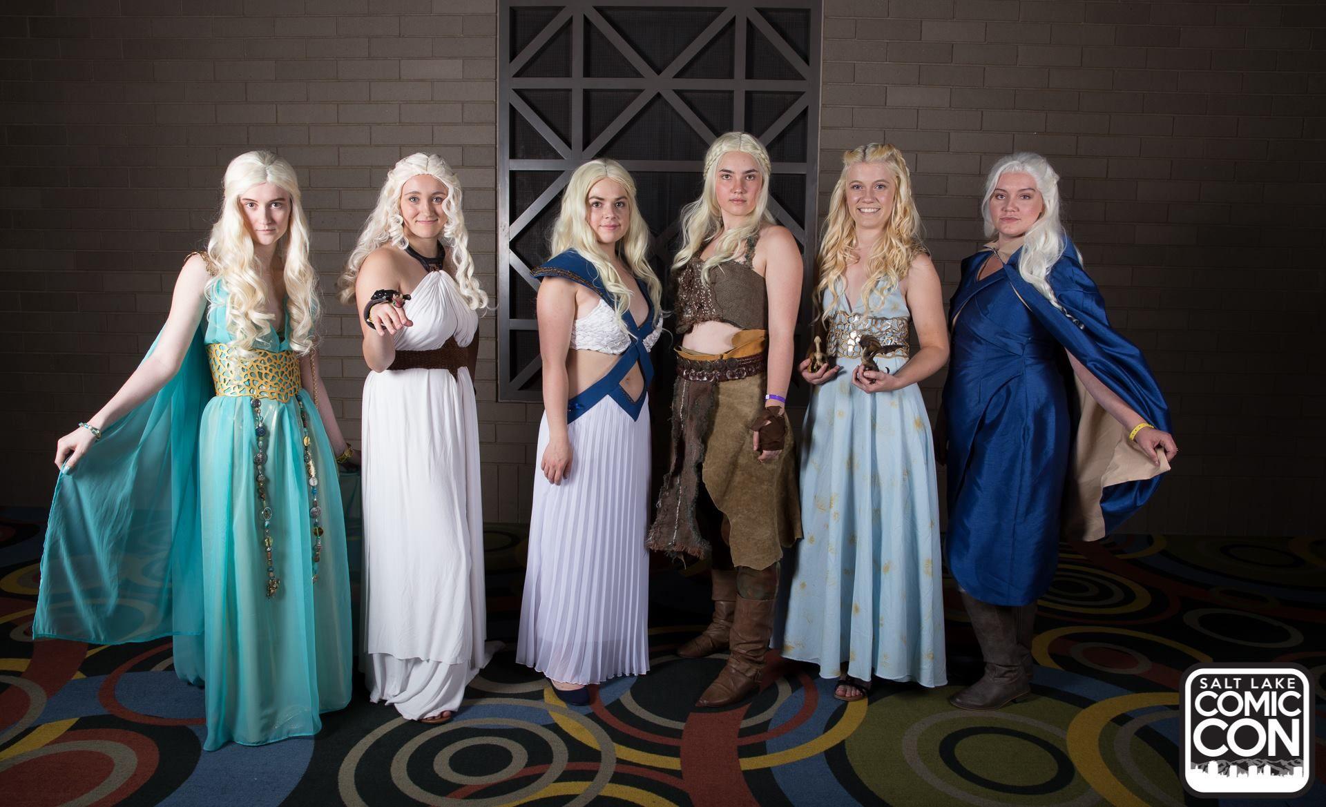 Daenerys Targaryen from Game of Thrones cosplayers at Salt Lake Comic Con 2015