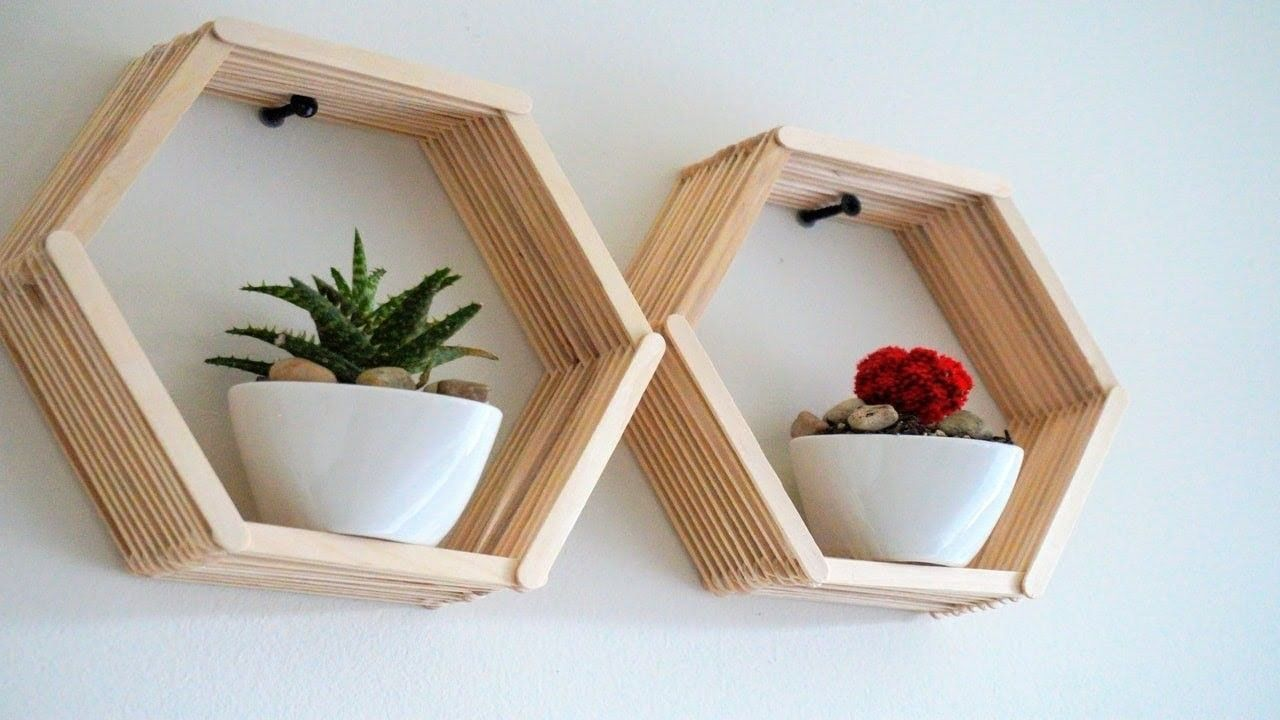 Image result for popsicle stick wall decor