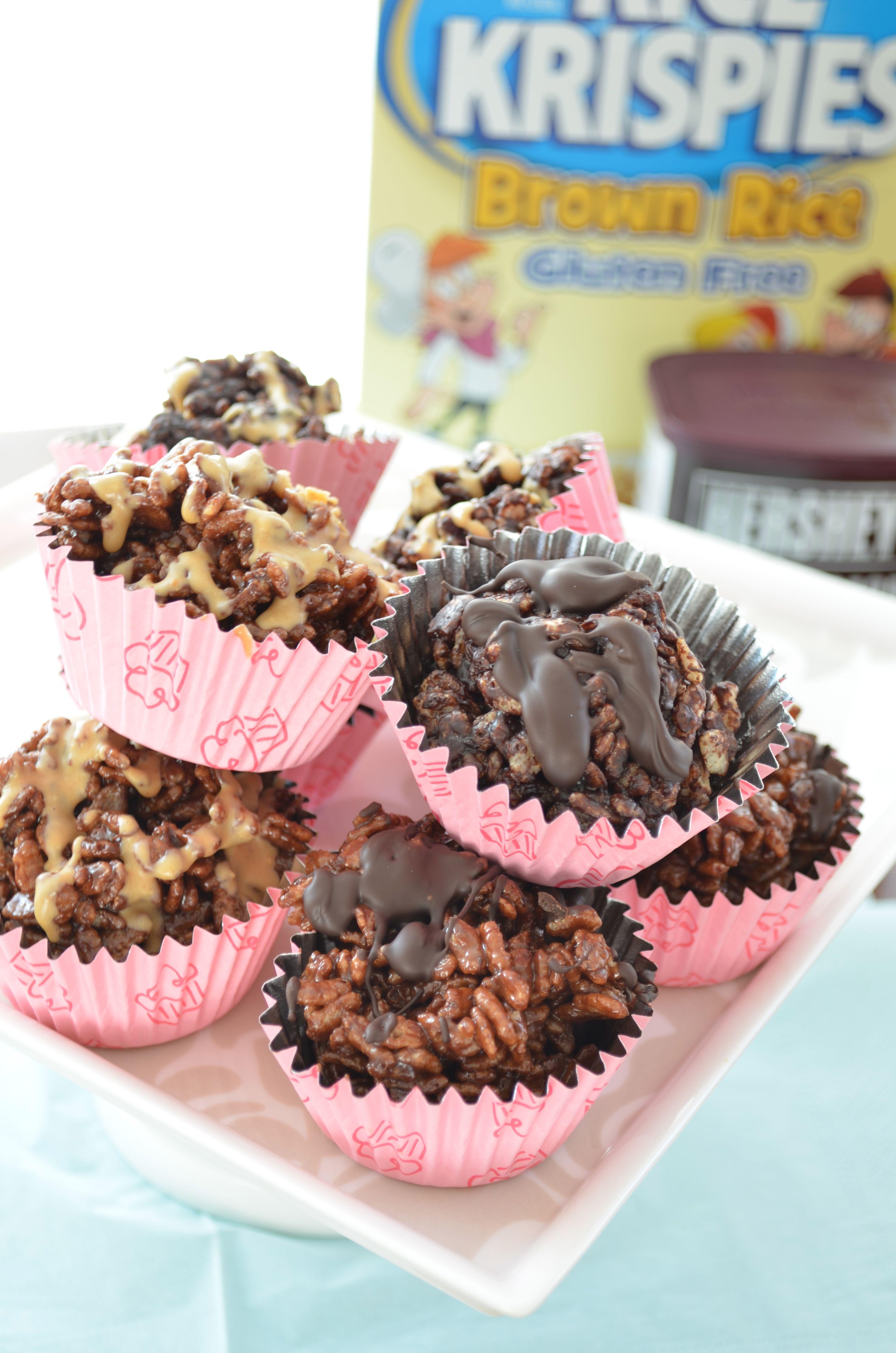 Chocolate and Chocolate Peanut Butter Rice Krispie Treats