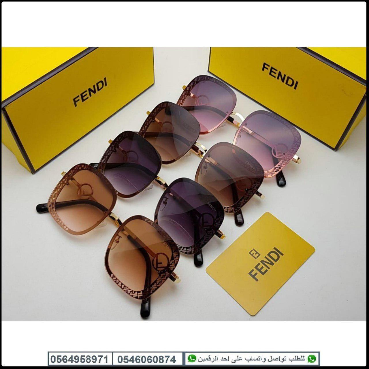 نظارات فندي نسائيه Fendi مع كامل ملحقاتها و بنفس اسم الماركه هدايا هنوف Sunglasses Oval Sunglass Glasses