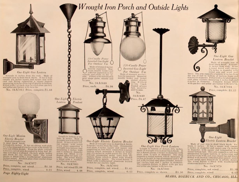 Electric Gas And Combination Lighting Fixture Antique Lighting Craftsman Lighting Historic Lighting