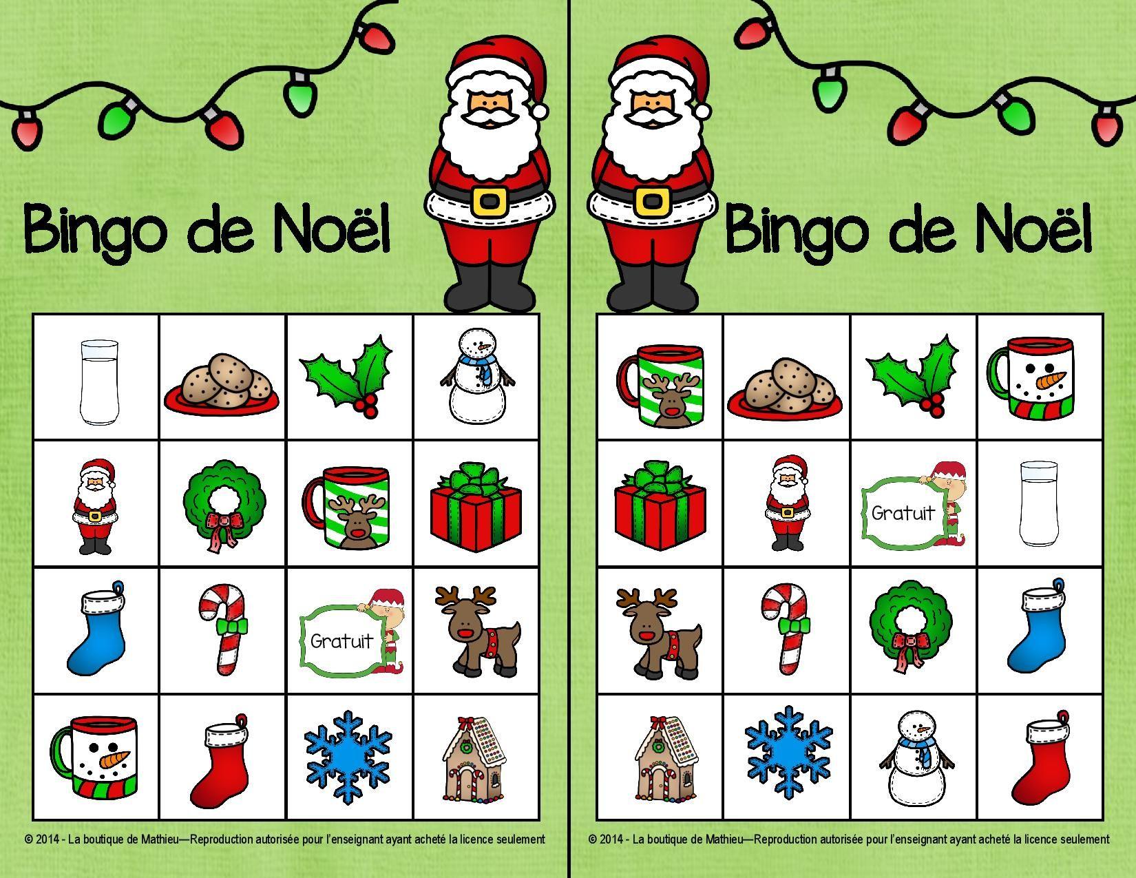 Populaire bingo noel - Google Search | French : Noël | Pinterest | Noel GY62