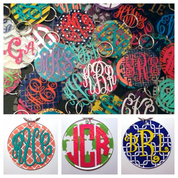 3 Inch Monogrammed Keychain Or Tag For Luggage Or Bookbag