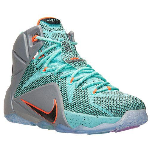 Men's Nike LeBron 12 Basketball Shoes | Finish Line | Hyper  Turquoise/Black/Metallic