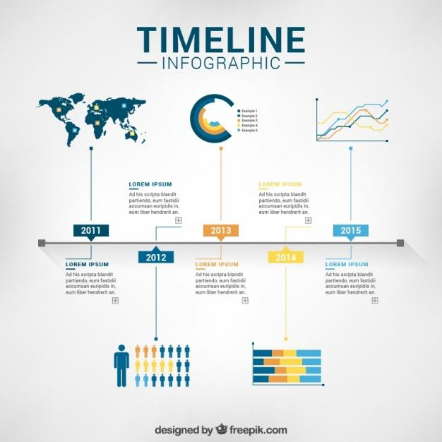 Timeline Infographic Template Free Vector