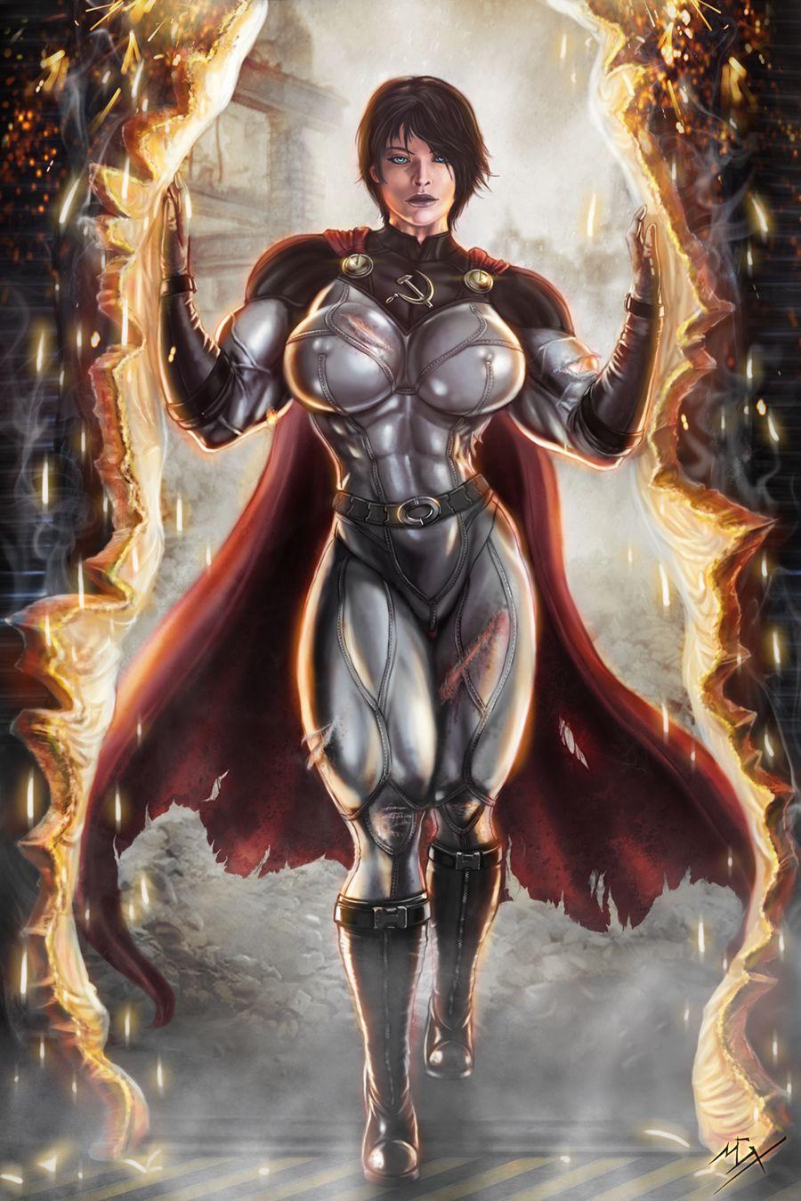 Soviet Superwoman Comic villains, Comics girls, Superwoman