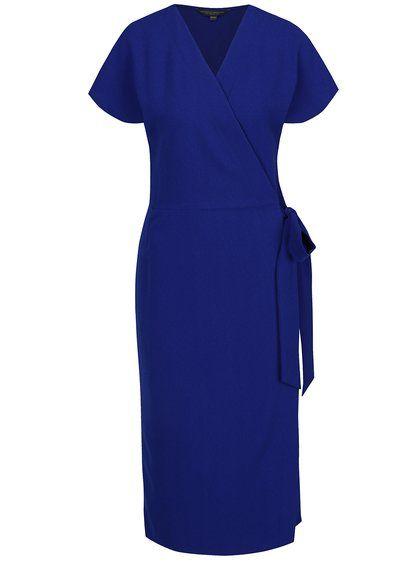a0dec4bcf6f0 Modré zavinovací šaty Dorothy Perkins Tall