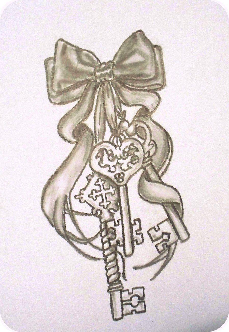 Pics photos heart lock flowers n key tattoo design - Keys Tattoo By Somebeach42 Deviantart Com On Deviantart