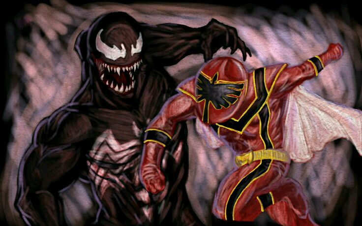 Venom and red mystic ranger