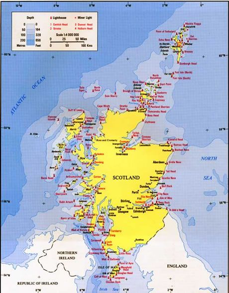 Lighthouses In Ireland Map.Map Of Scottish Lighthouses Lighthouses Pinterest Scotland