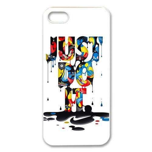 just do it nike for iPhone 4 4S 5 5S 5C White Case Cover 10001