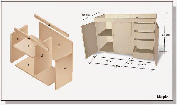 Plano de mueble de melamina proyecto 2 alacena de cocina | Web del ...