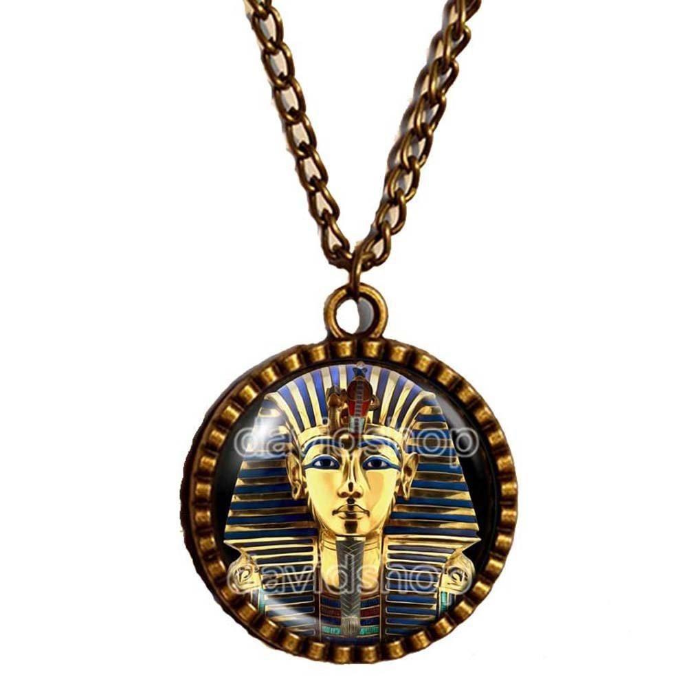 King tut necklace chain tutankhamun golden king antique art king tut necklace chain tutankhamun golden king antique art pendant egyptian jewelry chain mozeypictures Choice Image