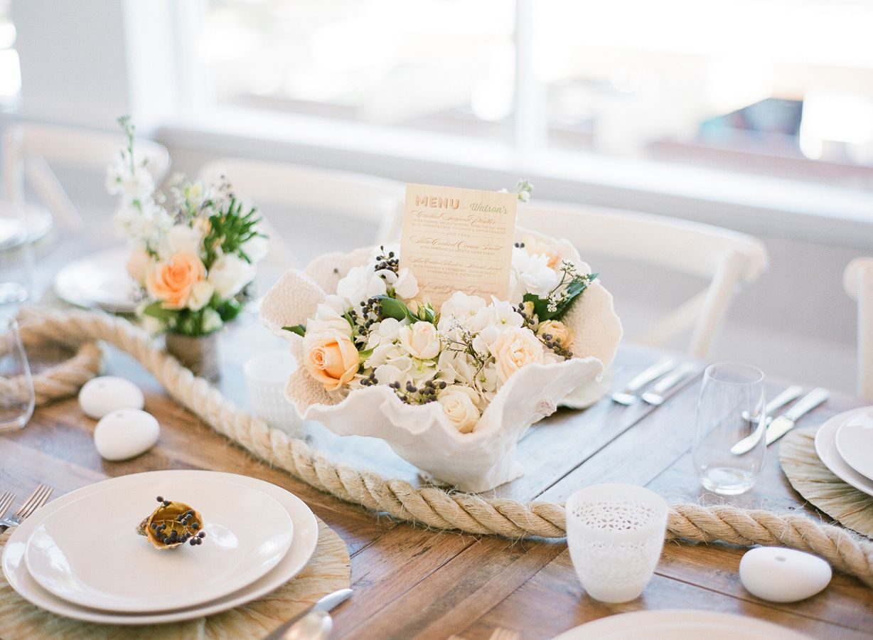 Wedding Centerpieces - Beach wedding table decoration ideas