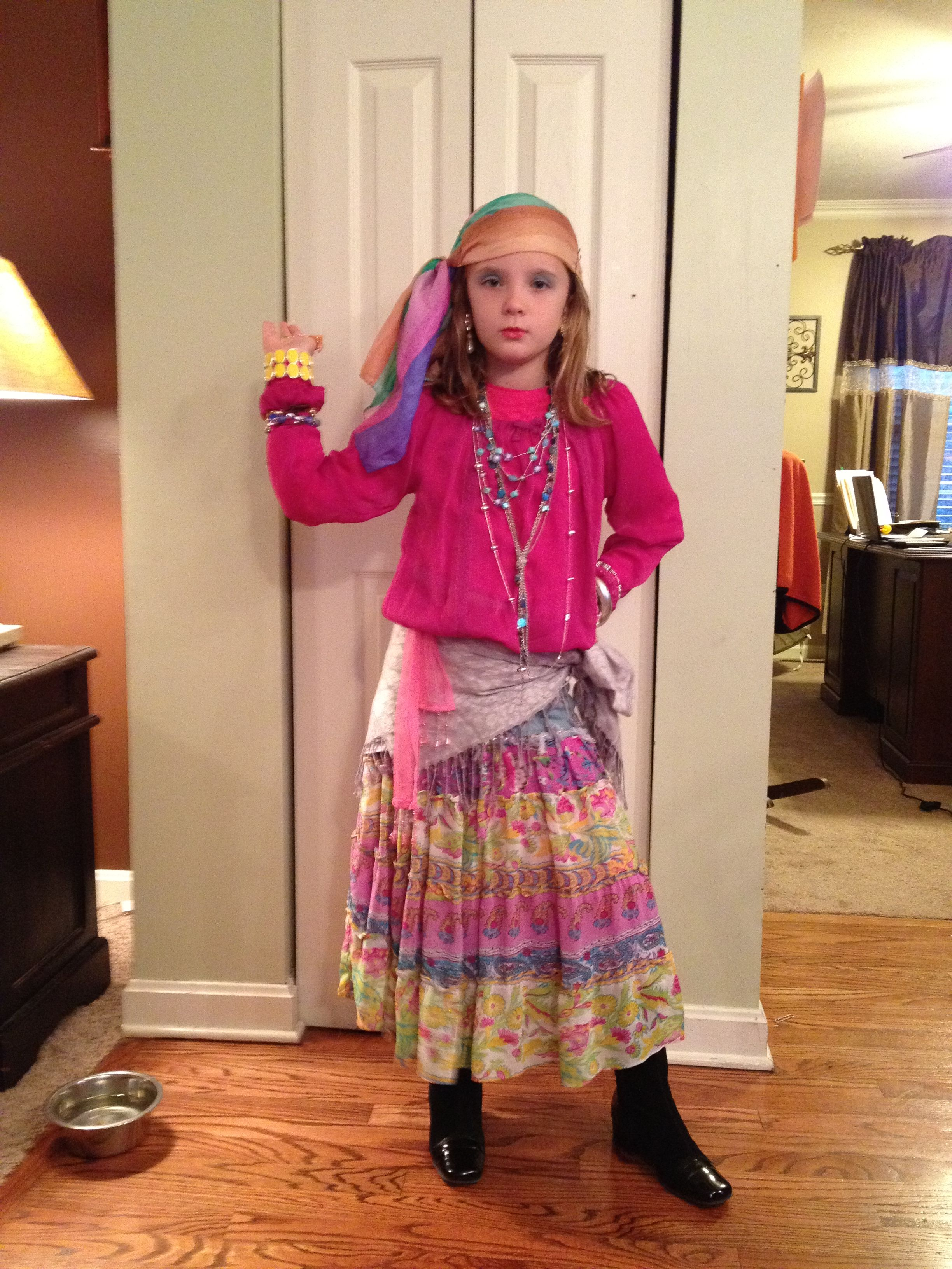 Homemade Gypsy Costume In 2019 Gypsy Costume Fortune