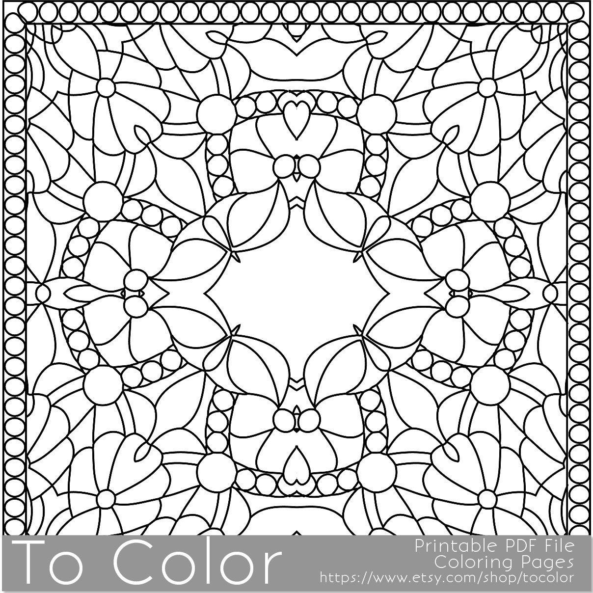 Printable Coloring Pages For Adults Square Coloring