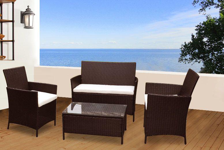 Madrid Rattan Garden Furniture Set Colours Summer