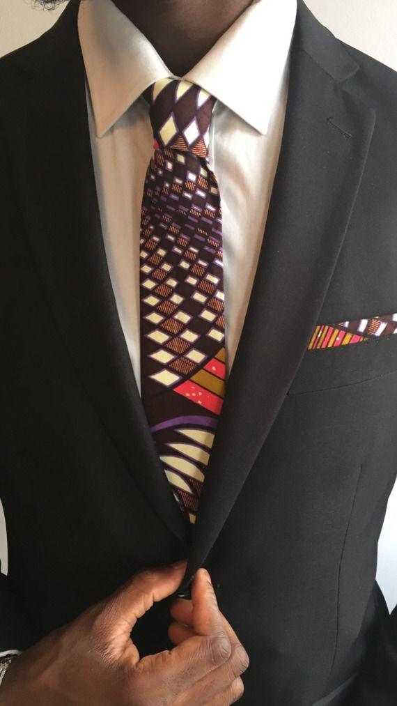 Cravate WAX Violet marron ***