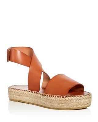 83ae94fc41d Bettye Muller Seven Leather Ankle Strap Platform Espadrille Sandals ...
