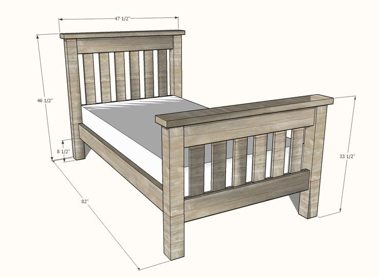 Simple Bed Twin Size   Simple bed, Diy twin bed frame ...