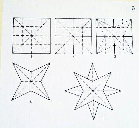 dubbele ster met afbeeldingen kerst origami