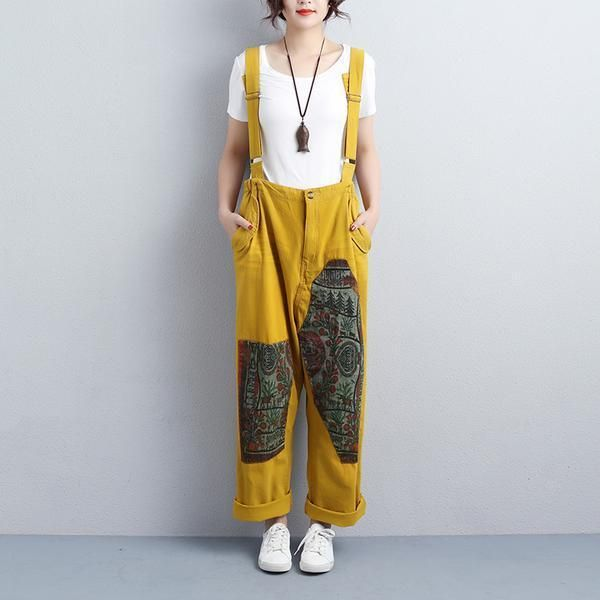 d4781e7f8f09 Women Ankle-Length Adjustable Strap Yellow Jumpsuits in 2019 ...