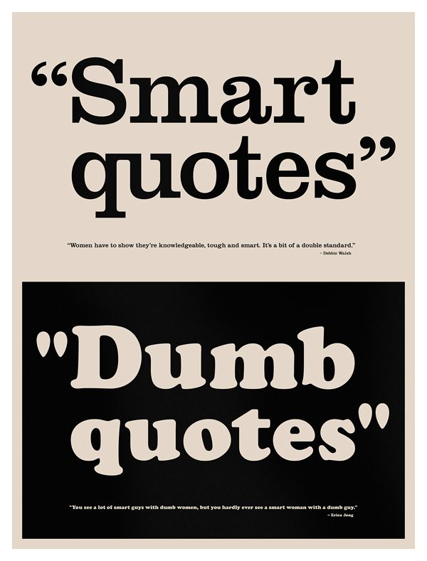 Dumb Quotes Dumb Quotes   Typographic education poster showing the difference  Dumb Quotes