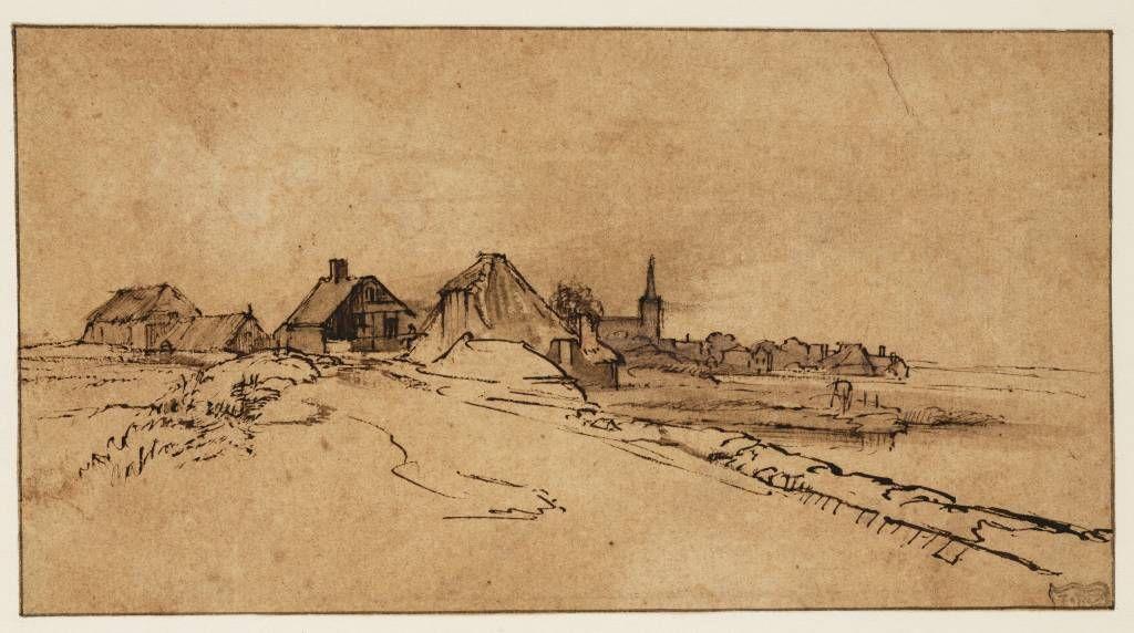 Mijn favoriete Rembrandt in Teylers Museum: Gezicht op Diemen