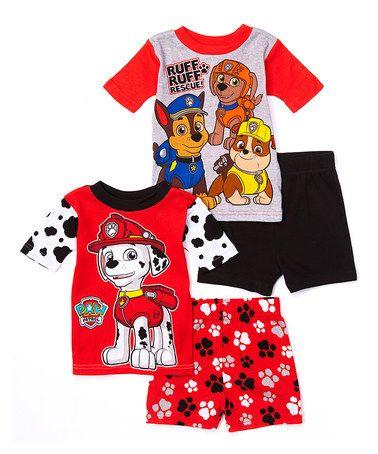 80f873ea4 Look at this  zulilyfind! PAW Patrol Four-Piece Pajama Set - Toddler ...