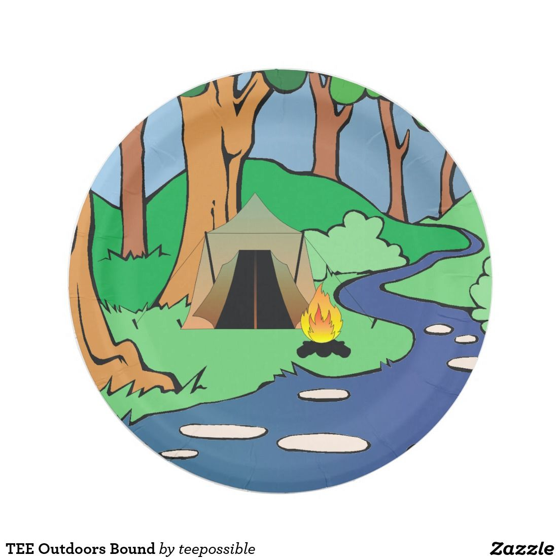 TEE Outdoors Bound Paper Plate
