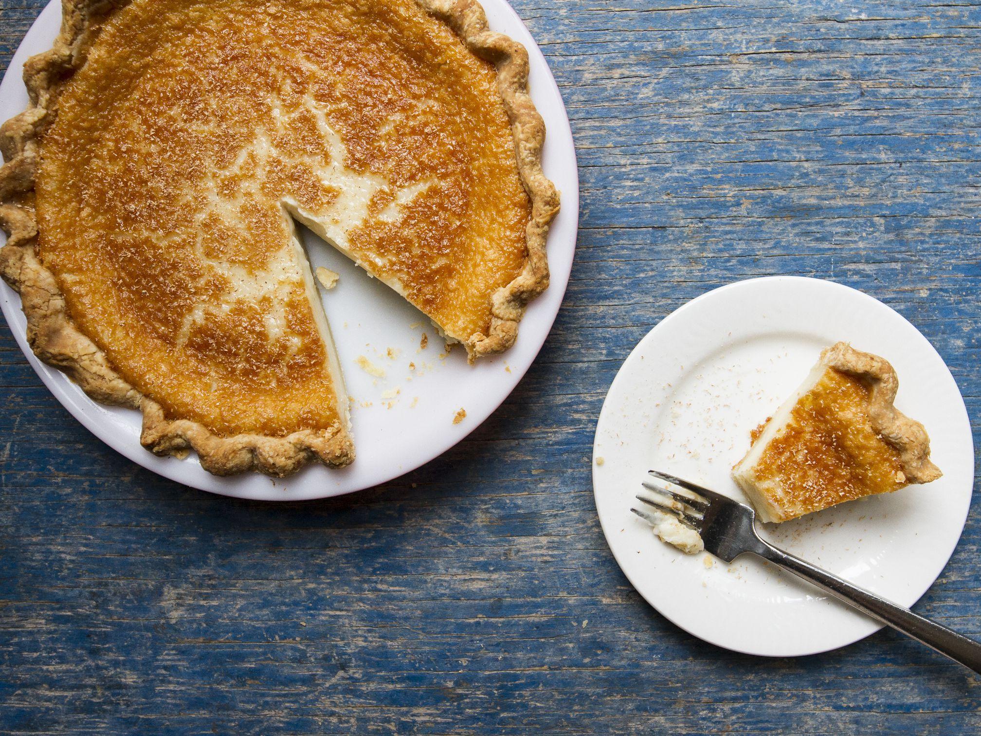 Indiana Hoosier Sugar Cream Pie Recipe #sugarcreampie