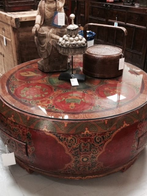 High Quality Tibetan Drum Coffee Table Ideas
