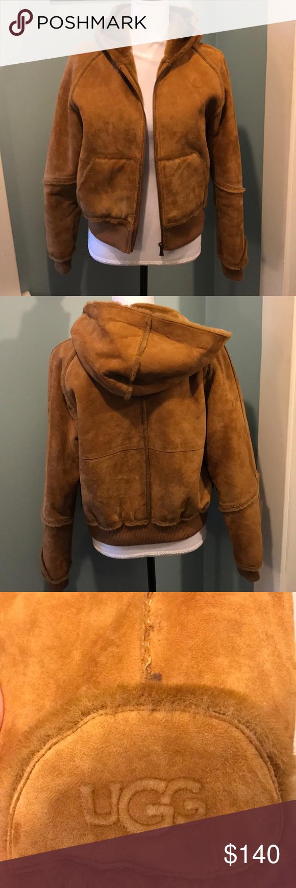 UGG Australia Hooded Sheepskin Bomber Jacket Ugg jacket