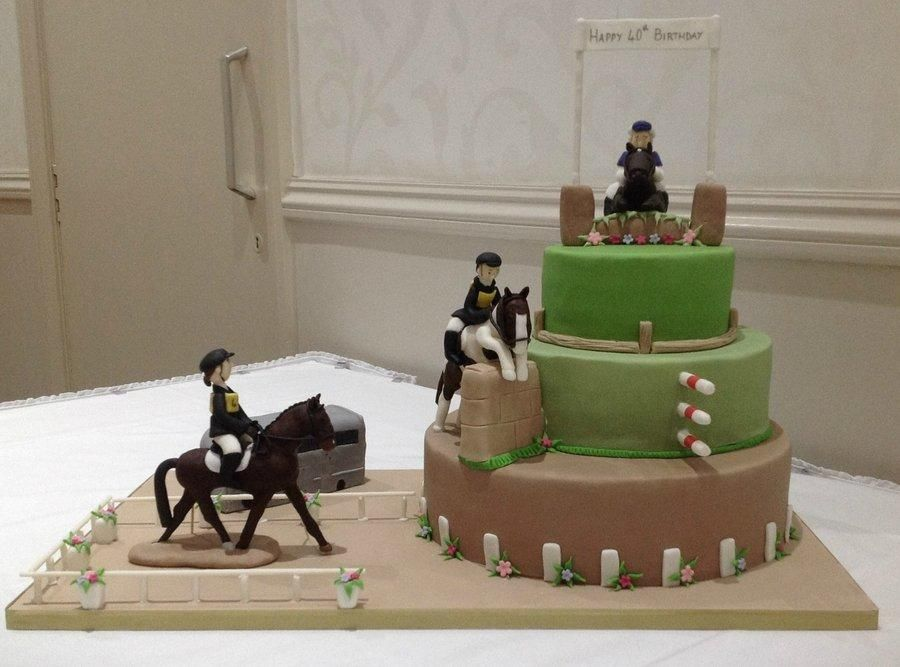 Equestrian birthday cake Cake by Evelynscakeboutique