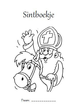 Kleurplaten Sinterklaas Lijstje.Leuk Sint Werkboekje Auditieve Analyse Letterkennis Visuele