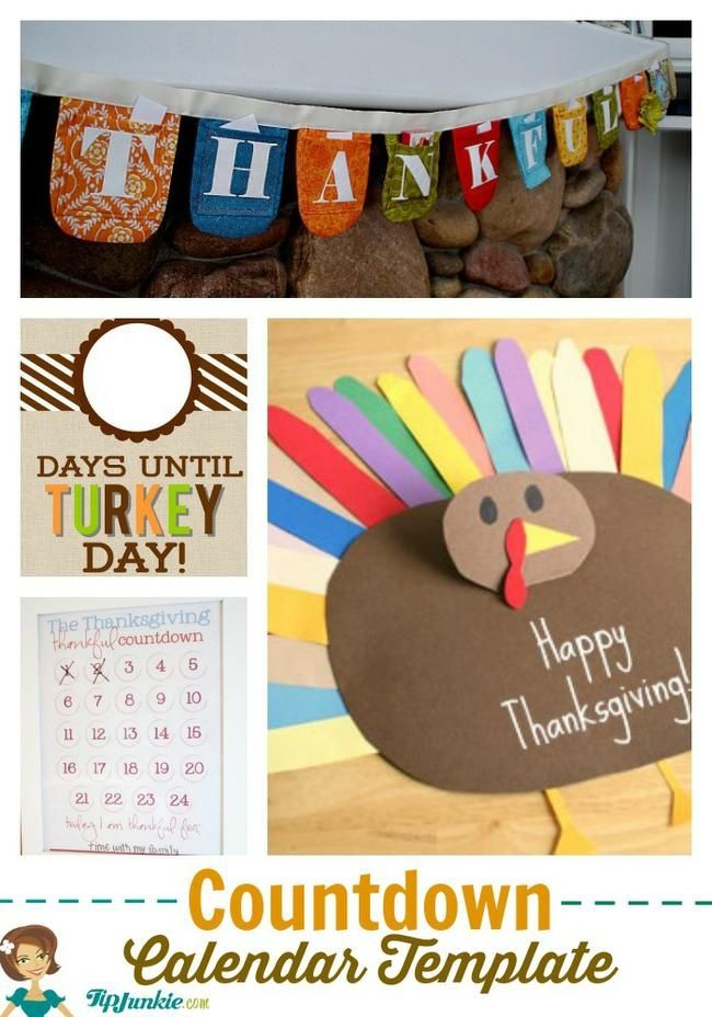 9 Ways To Countdown To Thanksgiving Countdown Calendar Template