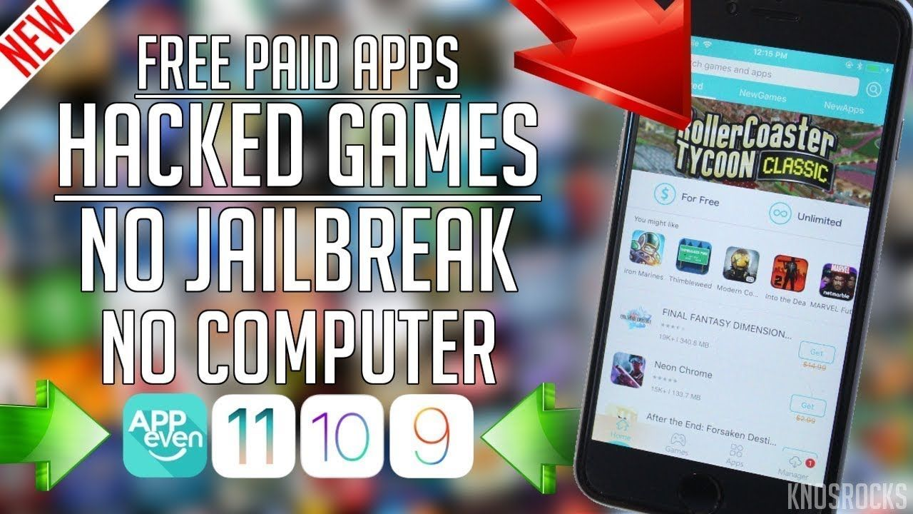 NEW AppEven GET PAID Apps & Hacked Games FREE iOS 11 - 11 2