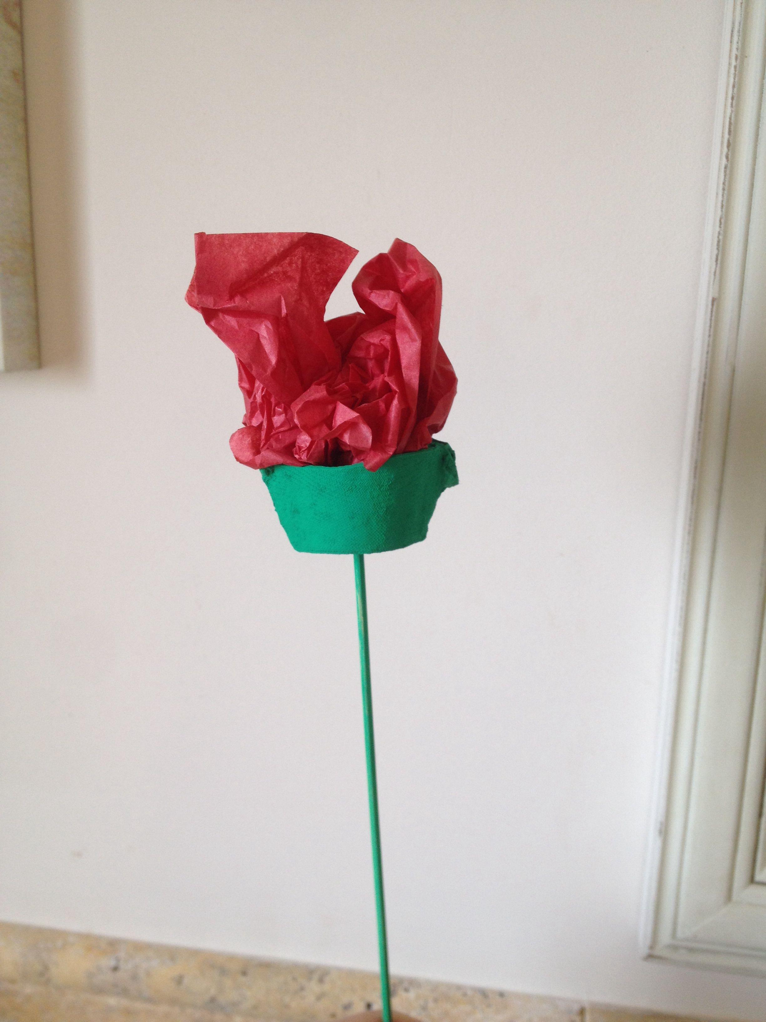 Rosa de Sant Jordi amb ouera i paper de seda. | Jordi ...