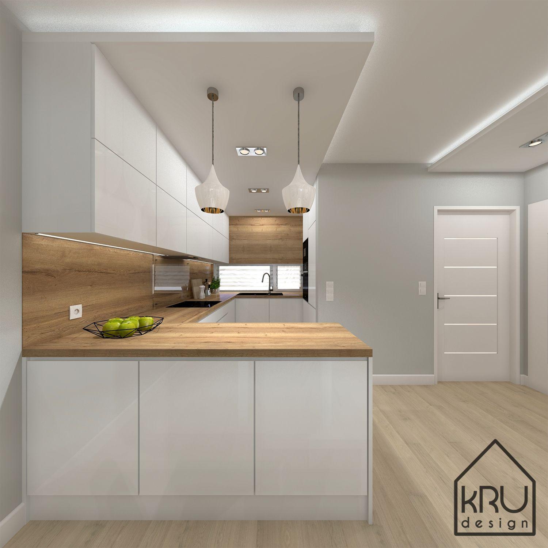 Zakres Projektu Kuchnia 2 Wersje Kru Design Modern Kitchen Cabinet Design Modern Kitchen Design Kitchen Room Design