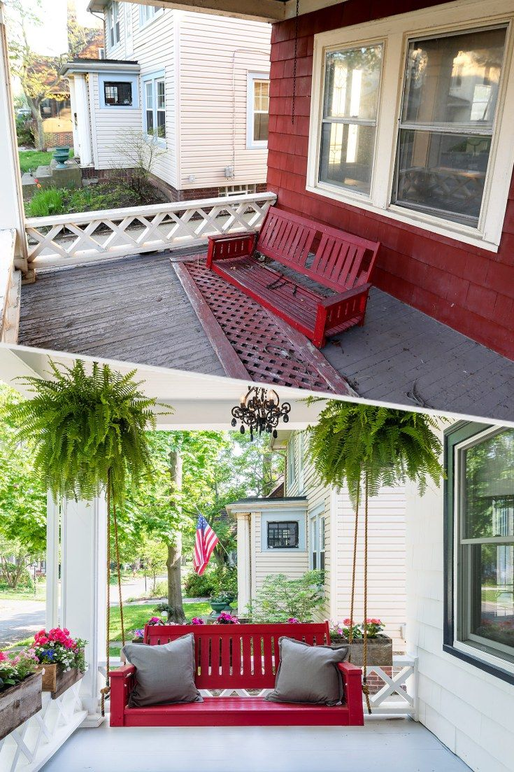 House wooden window design  before and after parenthood star monica potterus childhood home