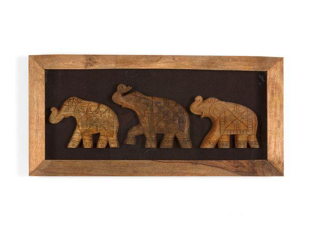 Holzbild Elefanten Von Massivum De Wohntrend Safari Tour