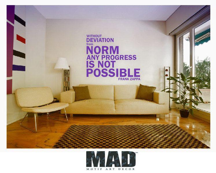 WALLSTICKER :::without deviation from norm ...::: de M.A.D Motif Art Decor      sur DaWanda.com