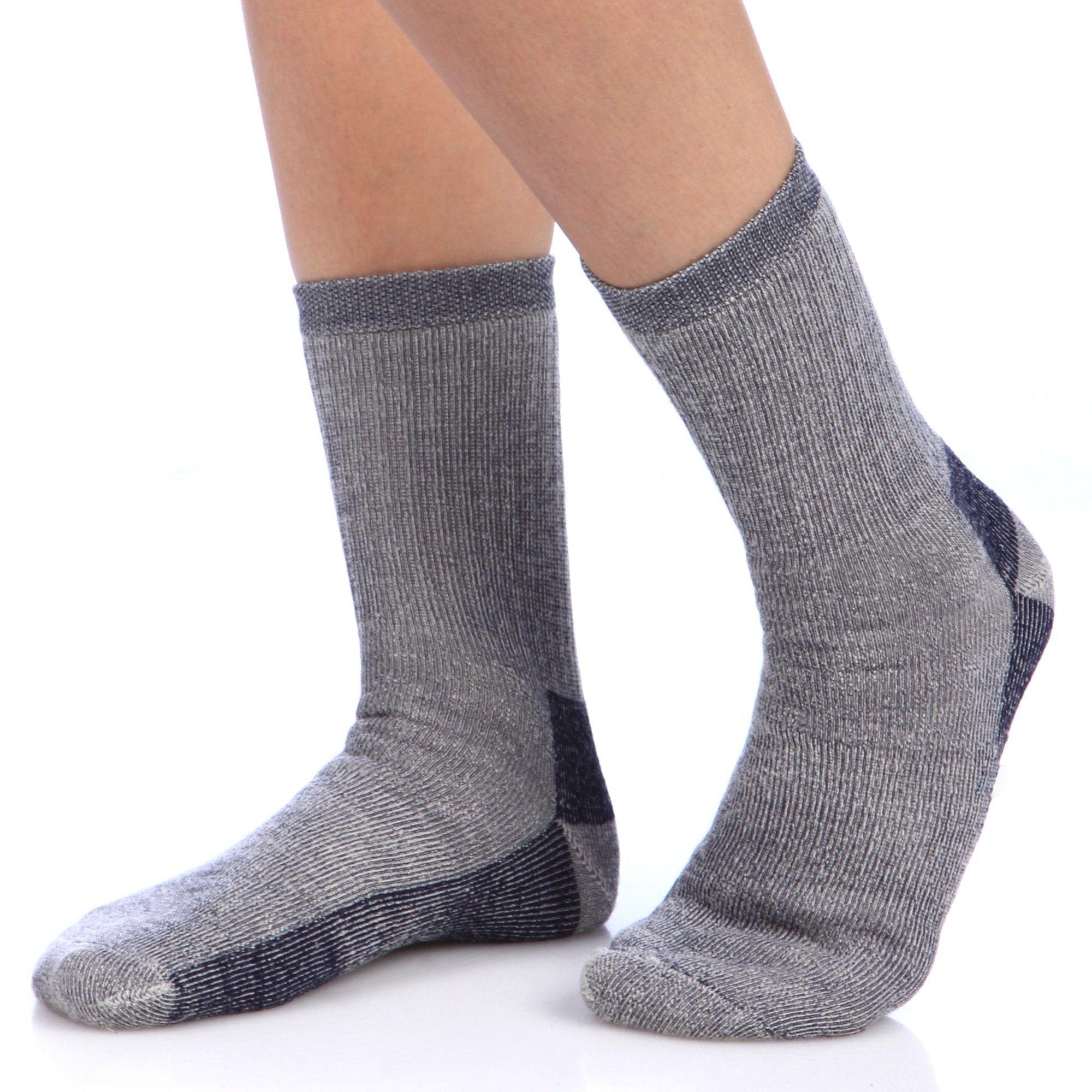 Smart Socks Navy Blue Merino Wool Crew Hiking Socks Pack of 3 M