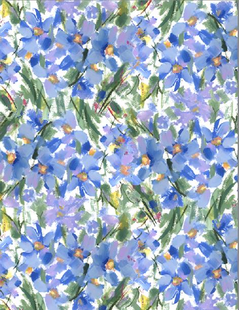 Floral Textile Design by Pamela Gatens