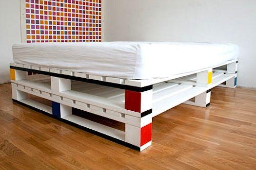 21 Ideen für Palettenbett im Schlafzimmer | квартирка | Pinterest ...